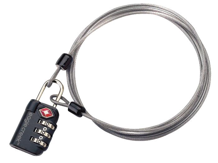 EAGLE CREEK 3-Dial TSA Lock and Cable