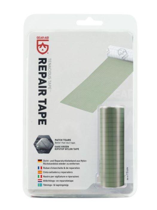 GearAid Repair Tape Sage Green Ripstop Nylon